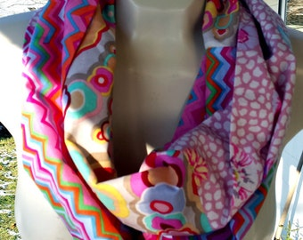 Kaffe Fassett Infinity scarf #40--buy 3, pay shipping for 1 (save 12.20)--use coupon code shipfee610 at checkout.