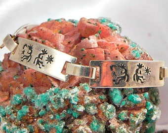 Native American Sterling Kokapelli Link Bracelet