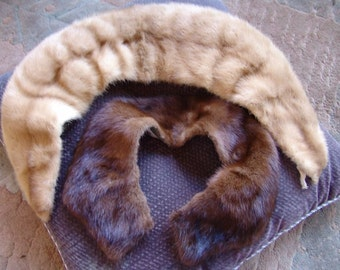 Vintage Fur Collars 1950s 1960s Two Items