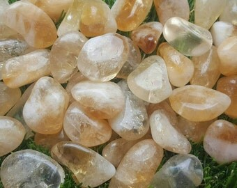 Citrine Crystal Tumblestone, Citrine Crystal, Citrine Stone
