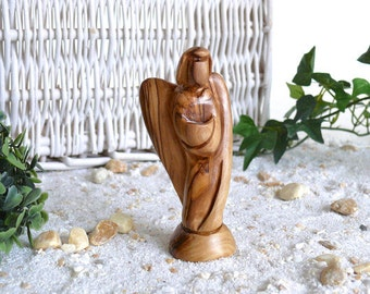 Angel URIEL (no. 2) made of olive wood