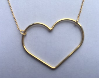Heart Silver Necklace.