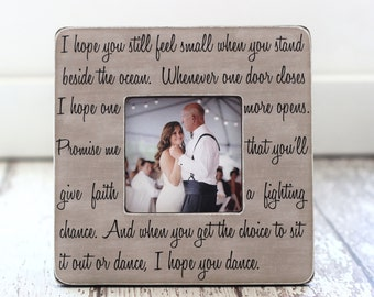 Dad Father Wedding Thank You Gift Personalized Picture Frame Dad Quote I Hope You Dance