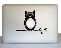 Owl decal for laptop - owl sticker for laptop - gift for student