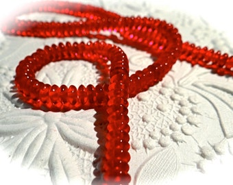Red Saucer Beads 4mm Beads Jewelry Supplies BT-128