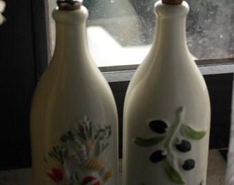 Marked Revol La Porcelaine France olive oil and vinegar set