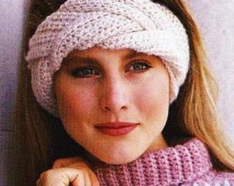 Crochet Braided Headband Patterns -or Knit Quick & Easy Earwarmer - Digital Download