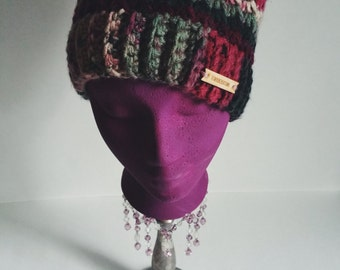 Pink and Gray Beanie