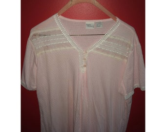 vintage pink lace nightgown
