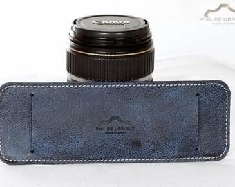 Shoulder strap of leather for belts, leather shoulder pad
