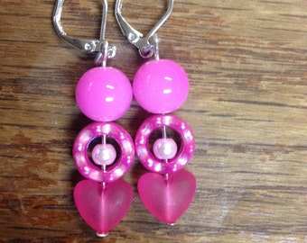 Pink Valentine earrings