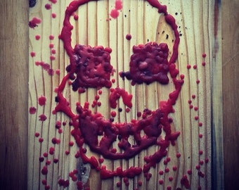 Wax skull art