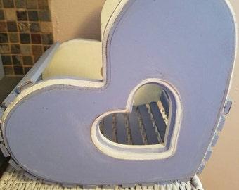 Shabby chic style decorative wood basket
