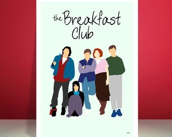 The Breakfast Club // John Hughes // Minimalist Movie Poster // Unique A3 Art Print