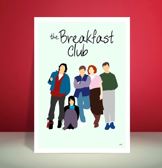 The Breakfast Club // John Hughes // Minimalist Movie Poster // Unique A3 Art Print