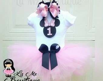 Minnie mouse tutu outfit, minnie mouse tutu, minnie mouse tutu set, minnie mouse birthday tutu, minnie mouse tutu dress, Minnie mouse set