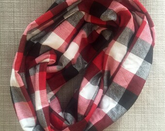 Toddler Plaid Infinity Scarf