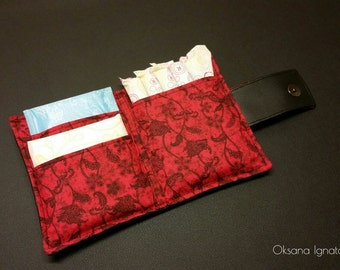 Tampon case for purse,storage,pad holder,tampon wallet,personalized,travel,privacy pouch,holder.Feminine Hygiene,women's organizer, kit