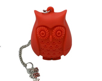 Owl Infuser/Steeper with accented charm