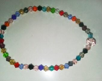 Swarovski crystal multi-colored 4mm beaded stretch bracelet. Such sparkle!