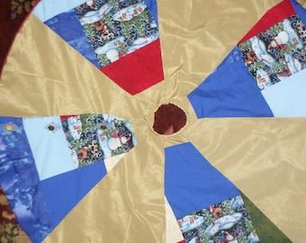 Snowman Tree Skirt: Hand-crafted Tree Skirt (custom embroidery optional)
