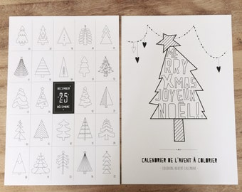 Coloring Advent Calendar, modern advent calendar, advent calendar, kids advent calendar, christmas calendar