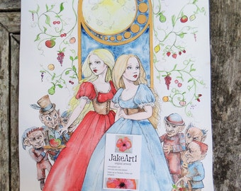 The Goblin Market fantasy art poetry inspired original art Goblin fantasy illustration