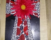 Cross Board Wall Hanger With Flower  MDCFAAP