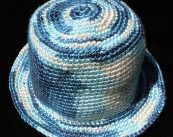 "Multi-colored 18"" Acrylic/Nylon crocheted hat"