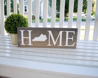 Kentucky home wood sign.  Home decor, kentucky proud, wall decor, wall hangings, wood signs, shelf decor, Kentucky, Kentucky decor.