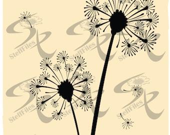 DANDELION Vector Flowers dandelion Digital image, graphical,eps,ai,png,SVG,DXF,jpg