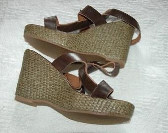 Strappy Spanish Wedge sandal UK 3, Euro 36
