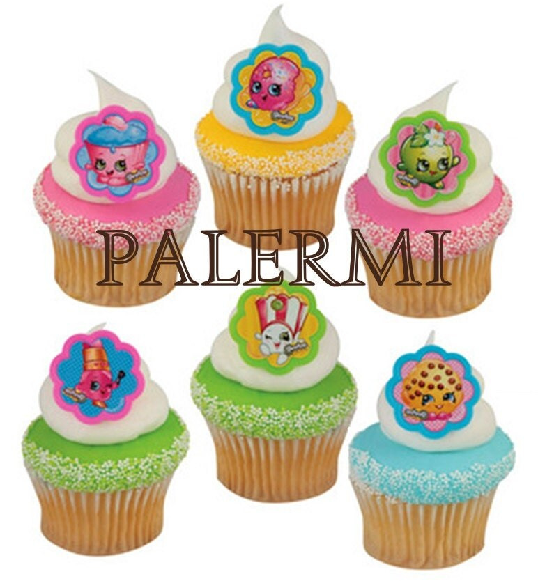 Shopkins Ring Cupcake Toppers