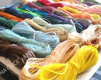 250 meters of waxed thread LINHASITA 1 mm thick, wire macramé, Brazilian thread, 50 colors x 5 meters