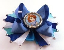 Disney Sophia The First inspired Boutique Style Hair Bow