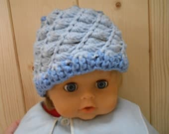 Top quality wool crochet hats for babies and toddlers.