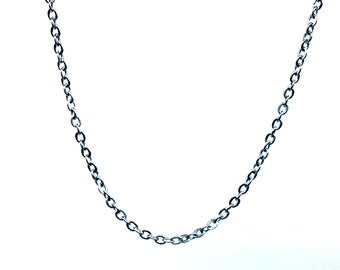 "1 PC/5 PCS, 2mm Stainless Steel Rolo Necklace Chain with Lobster Clasp, Ready to Use, Jewelry Supplies, Length 18""~26"""