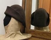 Felt Hat - Gothic Bell - Renaissance Hood - Bucket SCA - 15th century