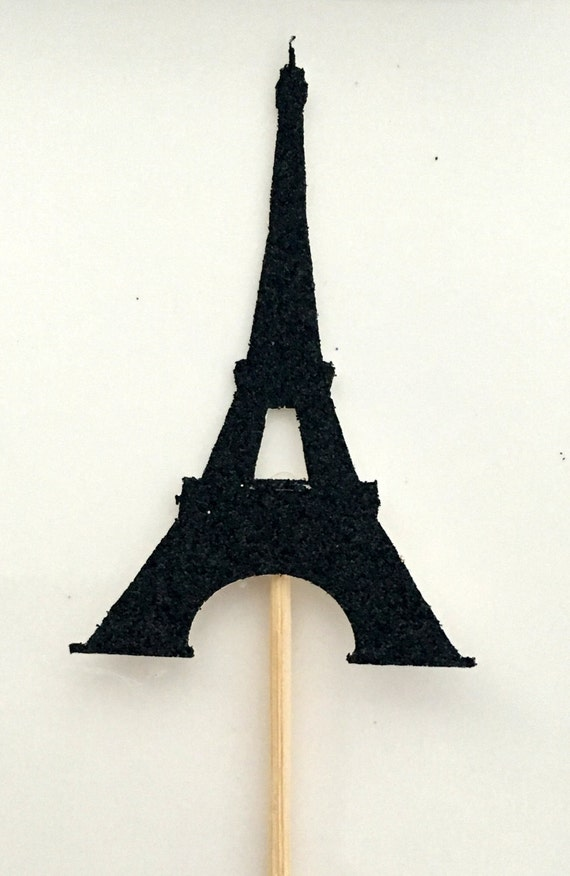 12 eiffel tower cupcake toppers bridal shower by craftandababy