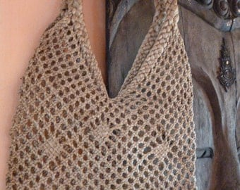 Weaving tote bag in natural color from Philippines for women