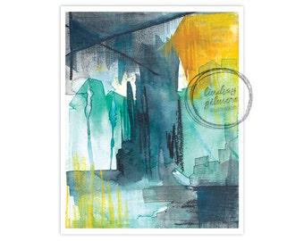 Night Shift #1 abstract art print