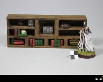 bookshelf for tabletop game