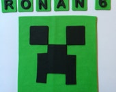 minecraft cake toppers, inspired, fondant cake decorations, edible fondant cake topppers square mine craft minecraft green black