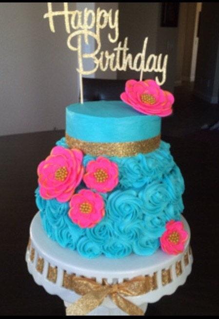 Gold Cake Decorations Uk : pink wedding cake topper fondant cake decorations 5pcs vintage