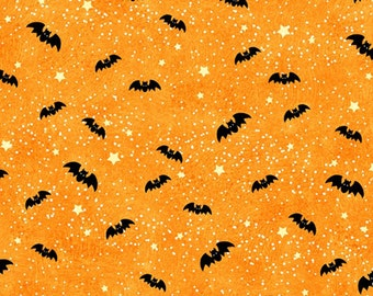 Toil & Trouble by Henry Glass - Bats Orange - Cotton Woven Fabric