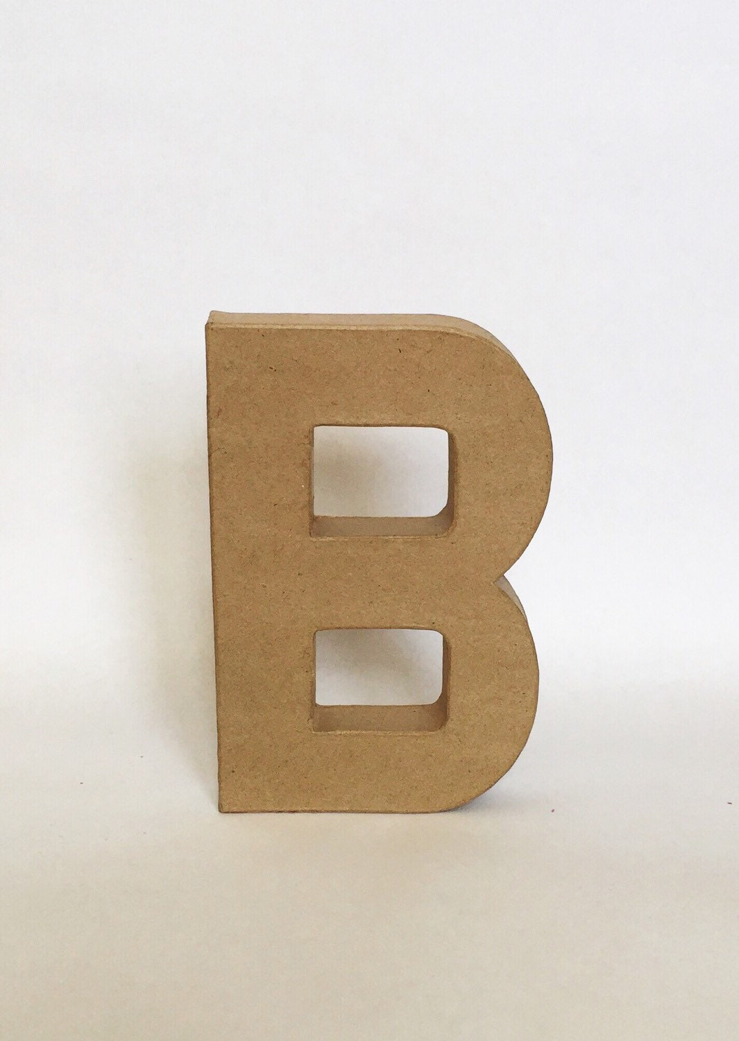 Stand Up Paper Mache Letter Initial Monogram by ZoeyElisa