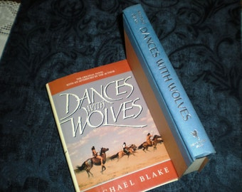 SIGNED/Inscribed Dances with Wolves by Michael Blake, 1991 Rare 1st HC Ed