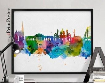 Vienna, Wien, Vienna print, Vienna watercolor, Austria, Vienna watercolor, wall art, home decor, wall decor, fine art print, iPrintPoster