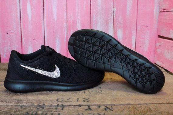 24cc93476df hot sale 2017 2016 Swarovski Nike Free RN Running Shoes by ShopPinkIvy on  Etsy