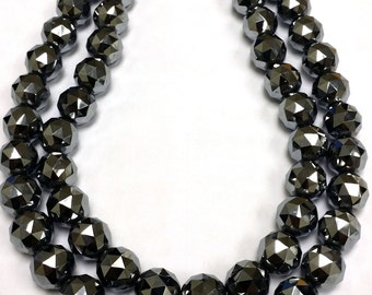 today sale offer 12.00 MM Silicon Terahills Faceted Cut Round Top Quality